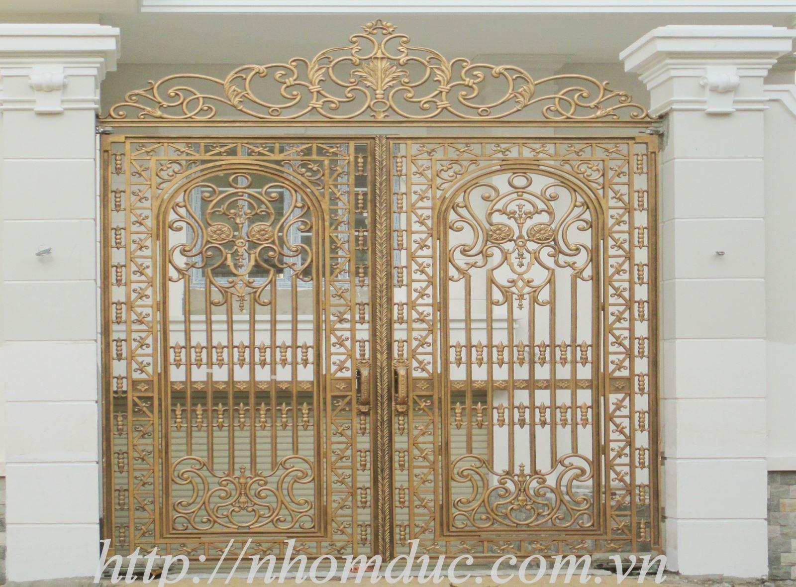 Báo giá cổng, cửa nhôm đúc cao cấp, cổng nhôm đúc hợp kim, cửa biệt thự