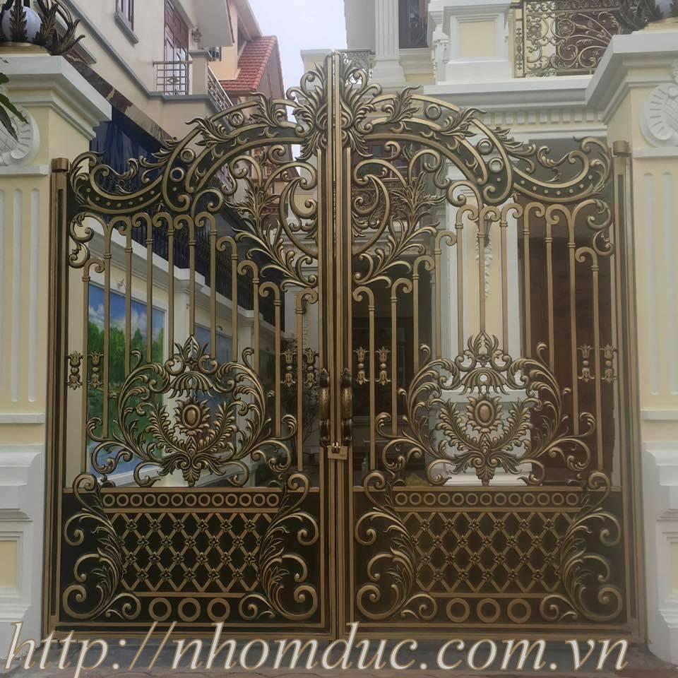 Cửa cổng nhôm đúc biệt thự đẹp tuyệt vời