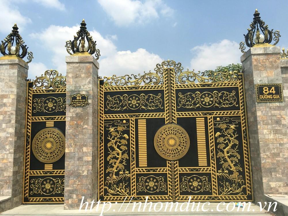 Cửa cổng nhôm đúc biệt thự GAT 126 - Cổng cửa inox tại Hà Nội
