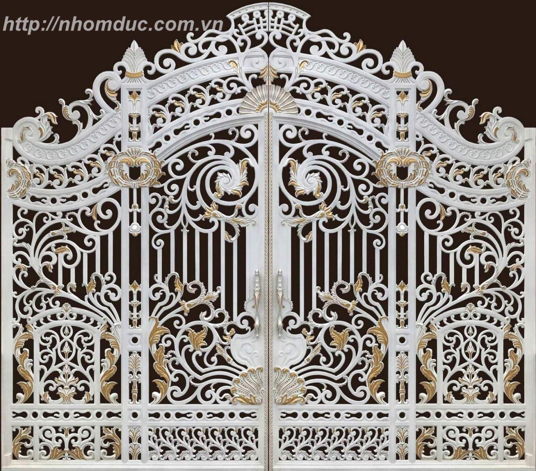 Thiết kế và thi công cổng nhôm đúc tại Hải Phòng