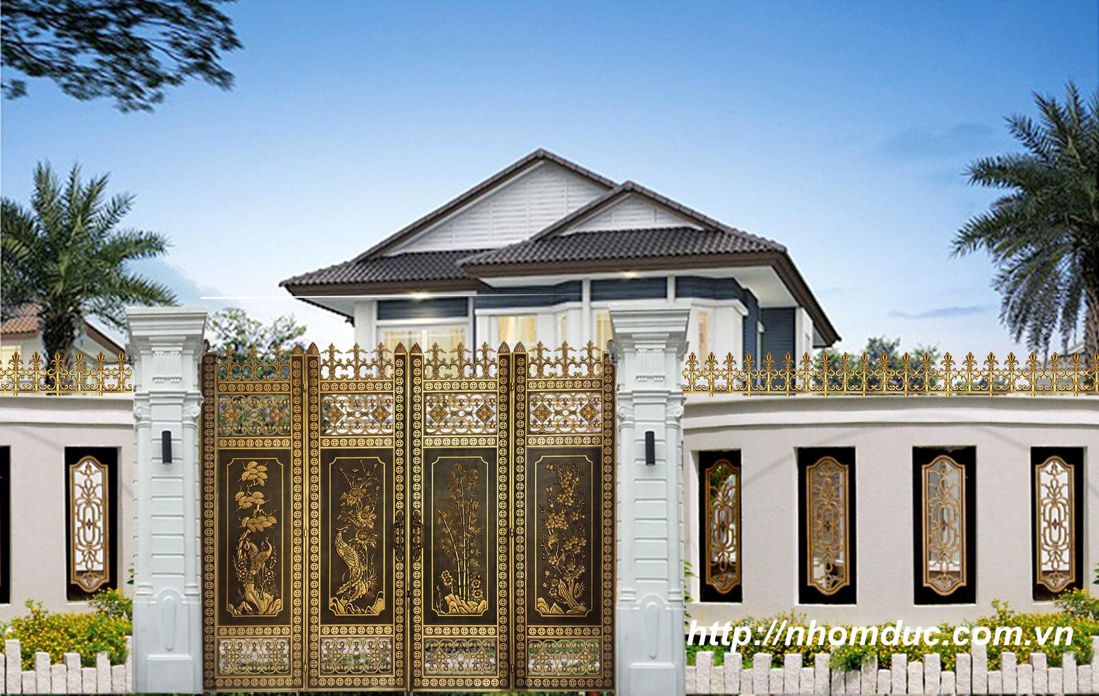 Cửa cổng nhôm đúc thành phố Hải Phòng, Cửa nhôm đúc