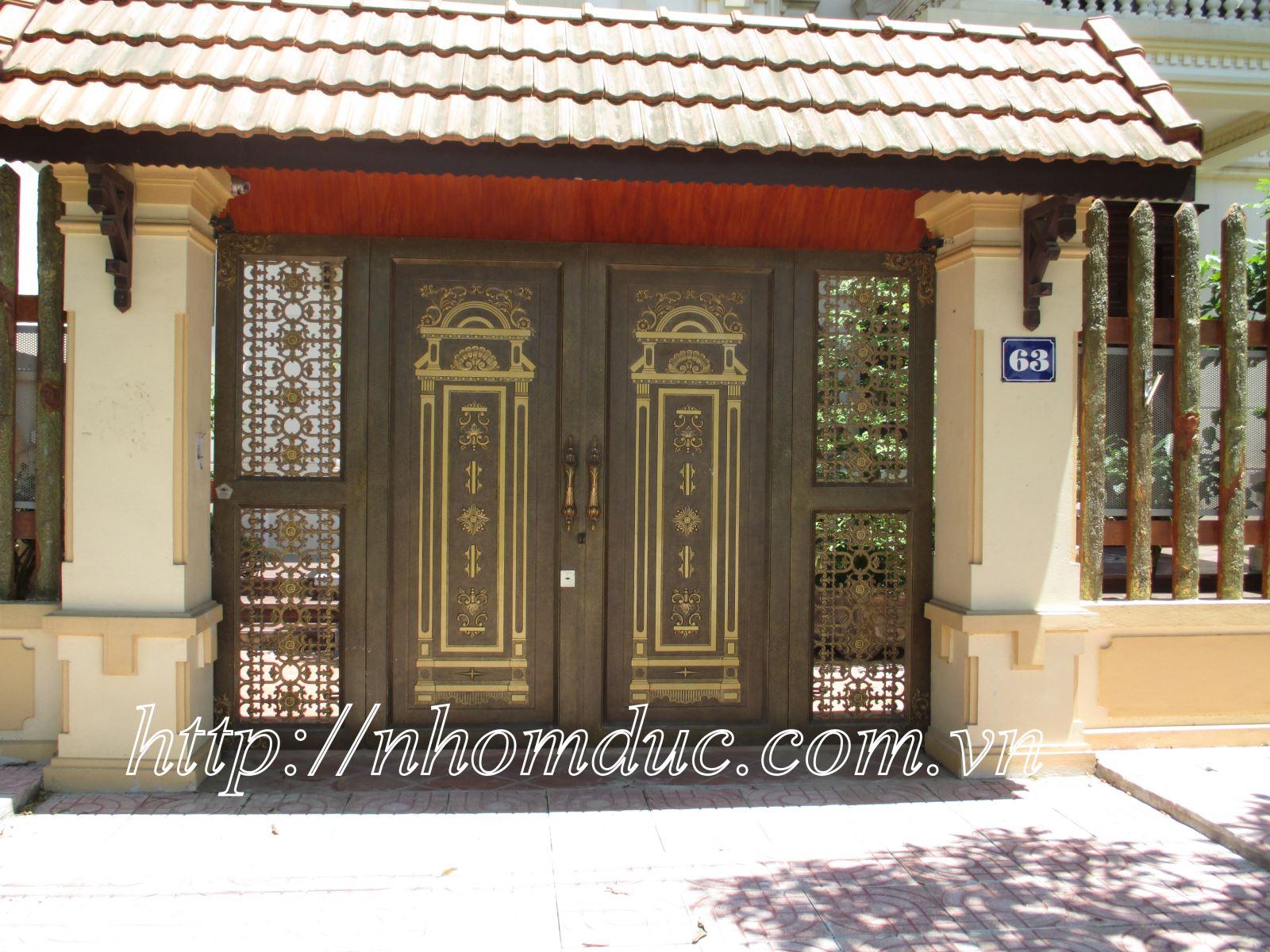 Cổng biệt thự Hà Nội - Cổng nhôm đúc, các dòng sản phẩm nhôm đúc như cửa nhôm đúc, cổng nhôm đúc, cổng biệt thự nhôm đúc cao cấp Nhật Bản