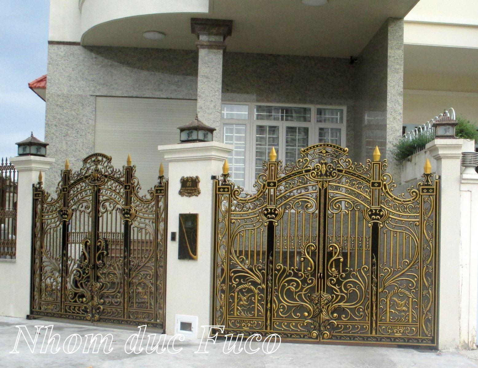 Mẫu cổng biệt thự , Mẫu cổng nhôm đúc