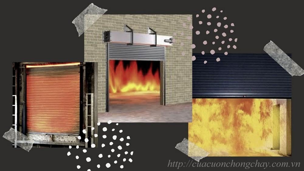 Cửa cuốn chống cháy bằng thép 2 lớp tại Hà Nộ