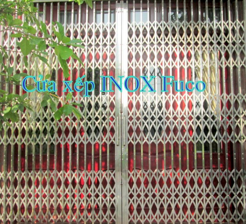 Cửa xếp INOX hộp tại Quảng Ninh