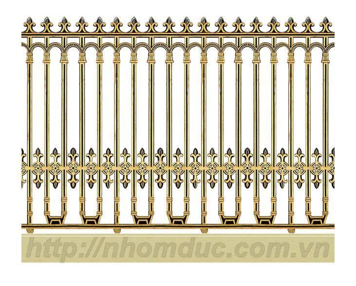 Hàng rào nhôm đúc phù hợp với ngôi nhà có kiến trúc đẹp