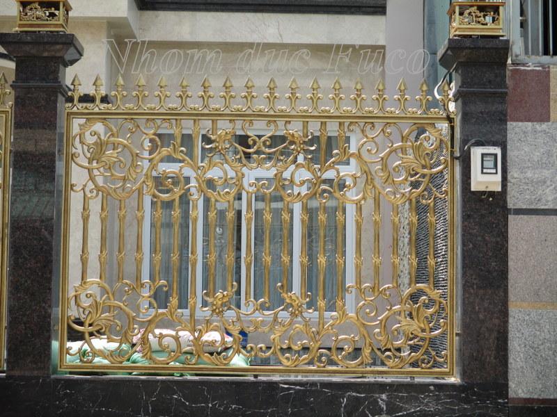 hàng rào nhôm đúc, hàng rào đẹp, hàng rào