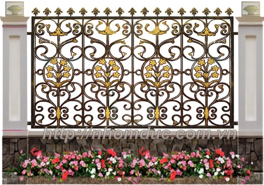 Mẫu hàng rào nhôm đúc giá rẻ. Nhằm đáp ứng nhu cầu làm đẹp của Quý khách hàng chúng tôi đưa ra cho quý khách hàng một loại mẫu mã hàng rào