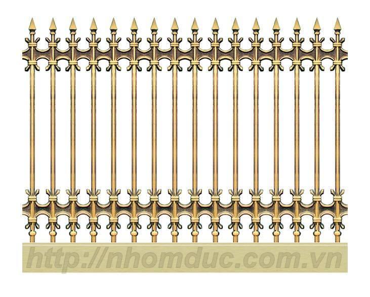 Hàng rào hợp kim nhôm đúc 1