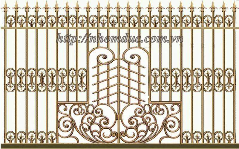 Cổng đúc hoa văn hợp kim nhôm đố Inox,Cửa đi,Hàng Rào,Chông gai
