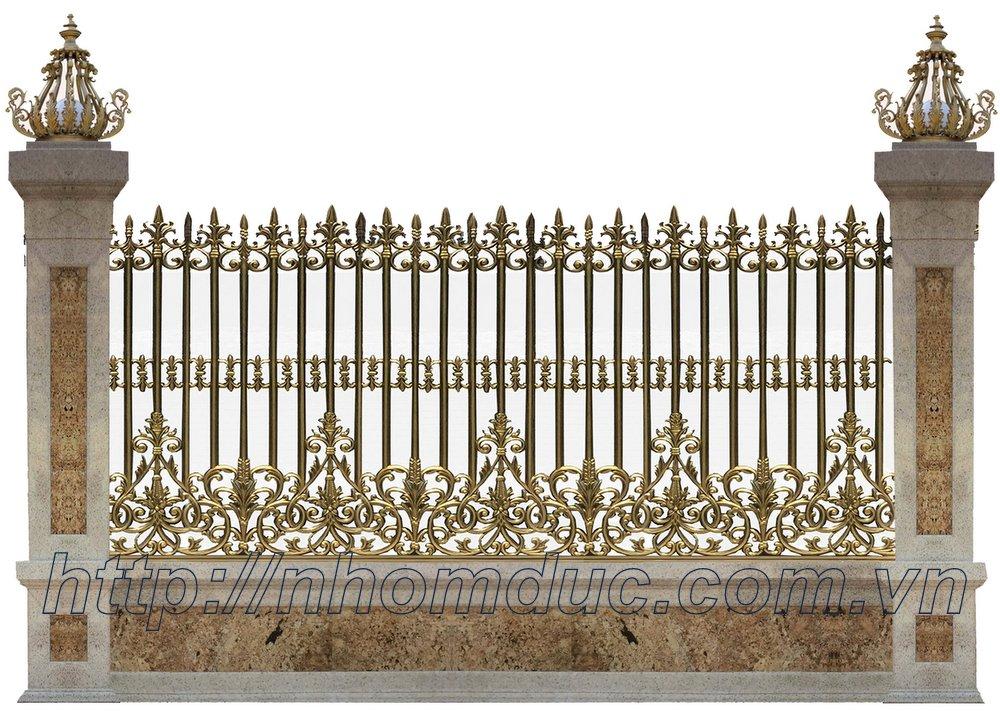 Sản xuất hàng rào nhôm đúc