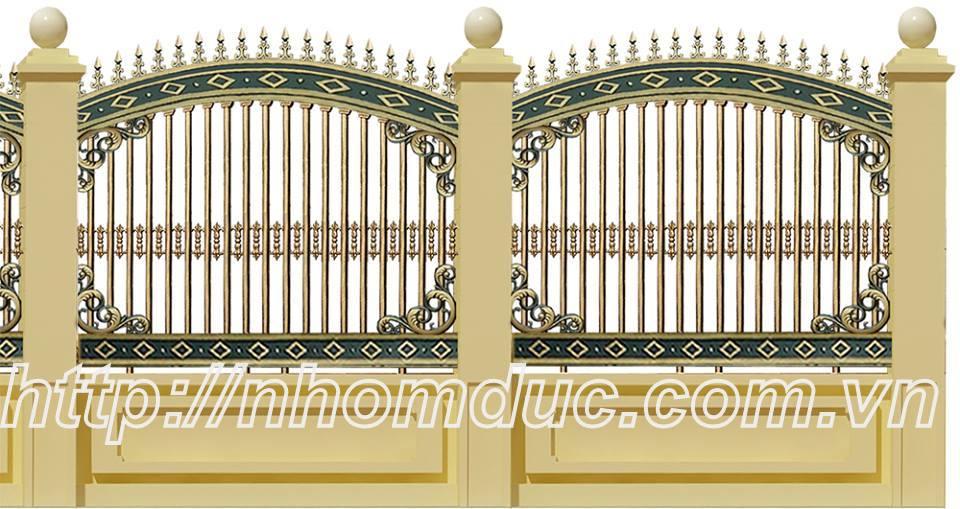 àng rào hợp kim nhôm đúc, hàng rào nhôm đúc Fuco với công nghệ đúc cao cấp