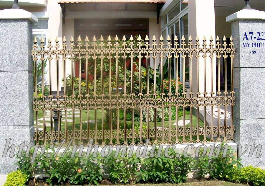 cổng nhôm đúc, cổng nhôm, lan can, cầu thang