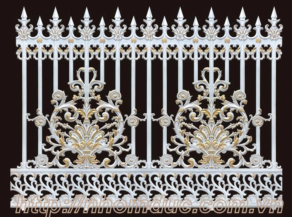 Hàng rào nhôm đúc đẹp, nhôm đúc hàng rào Fuco