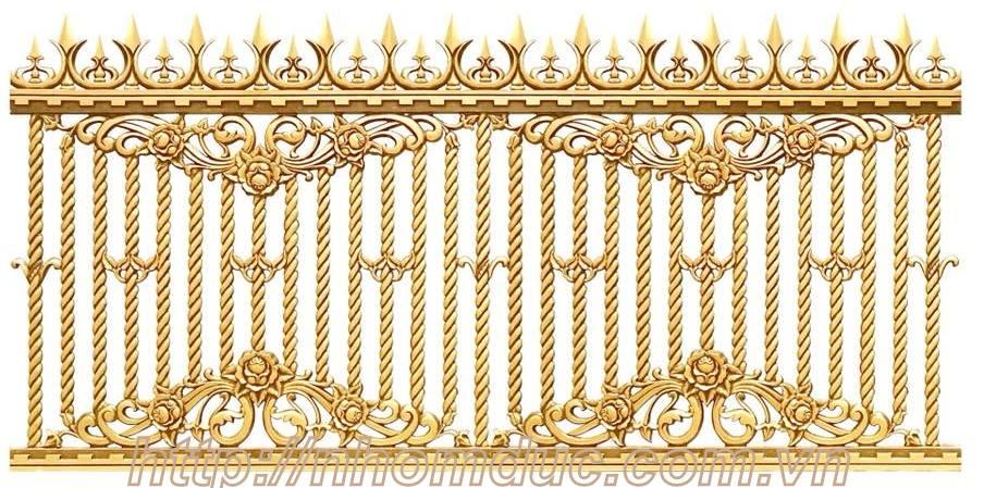 Hàng rào hợp kim nhôm đúc, được làm từ chất liệu chính là nhôm, hàng rào nhôm đúc