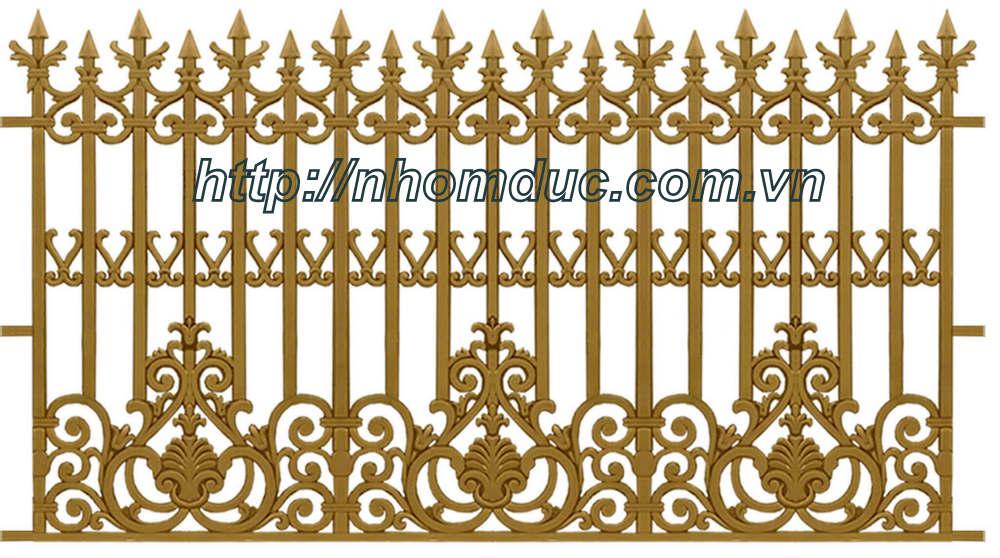 Cổng nhôm đúc đẹp. Hàng rào nhôm đúc biệt thự