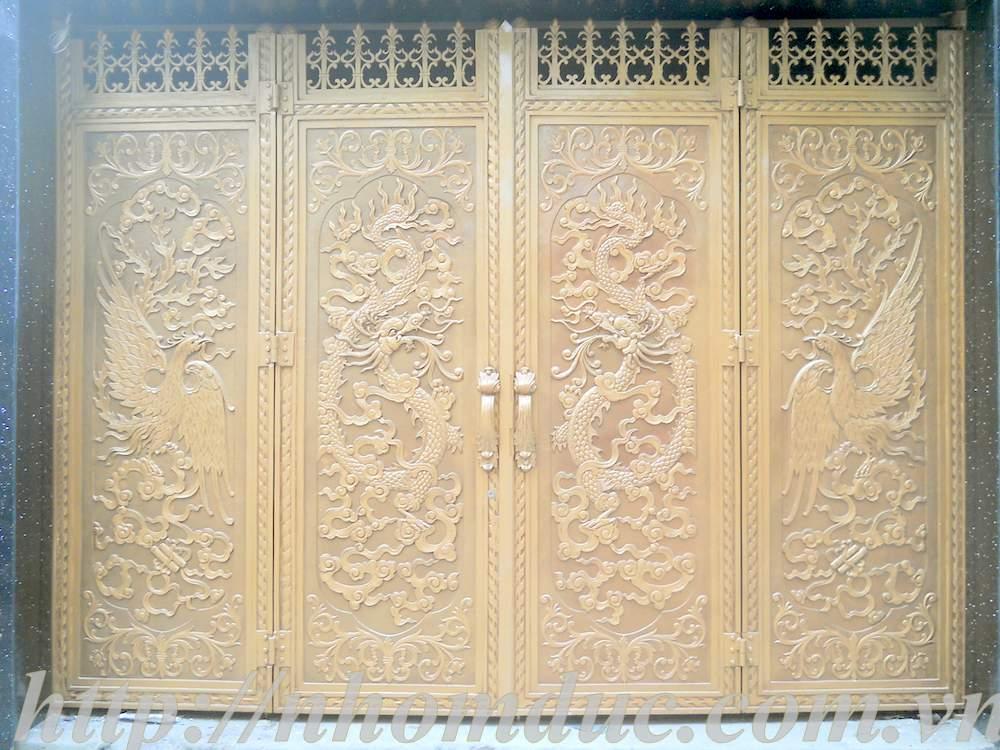 cổng nhôm đúc nghệ thuật