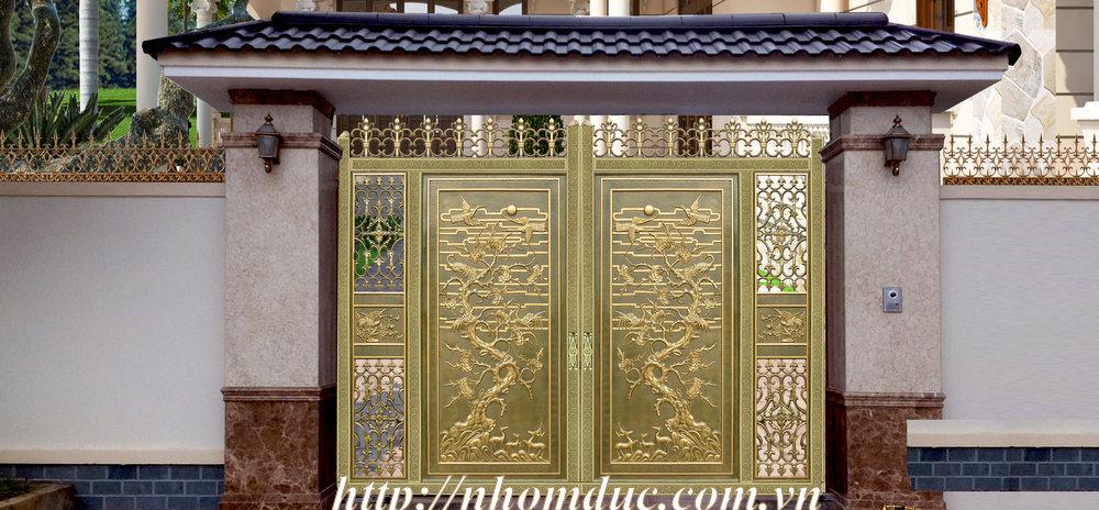 Cửa cổng hợp kim nhôm đúc, sản phẩm nhôm đúc công nghệ Nhật Bản Nhôm đúc Fuco có nhiều tính năng. Cổng cửa hợp kim nhôm đúc loại cổng kín.