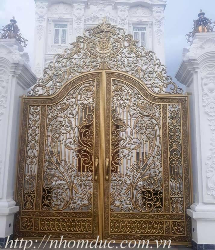 Báo giá cổng, cửa nhôm đúc cao cấp, cổng nhôm đúc hợp kim