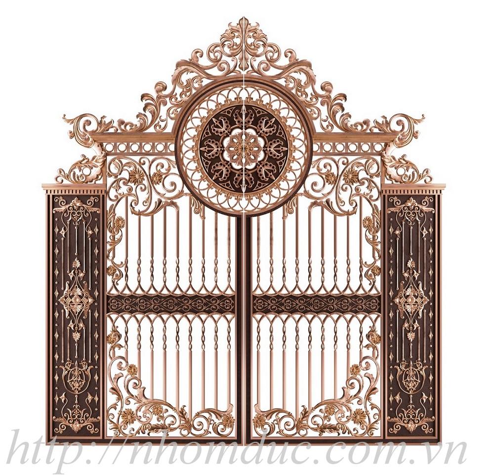 Báo giá cổng nhôm đúc Hà Nội, cổng nhôm đúc đơn giản đến cổng nhôm đúc phức tạp, cổng nhôm đúc có phù điêu và cổng nhôm đúc không phù điêu.