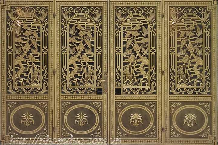 Cửa nhôm đúc dạng kín Hà Nội, Chúng tôi chuyên sản xuất, lắp đặt, thi công các loại: Cổng nhôm đúc, cổng biệt thự.Mẫu cửa cổng nhôm đúc GAT 135