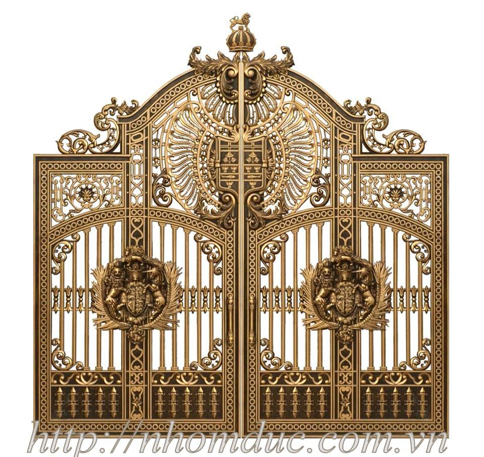 Báo giá cổng nhôm đúc Hà Nội, cổng nhôm đúc đơn giản đến cổng nhôm đúc phức tạp